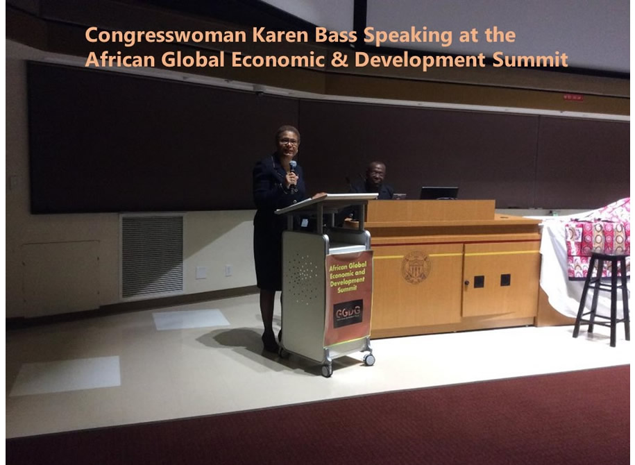 Congress Woman Karen Bass Speaking at the African Global Economic & Development Summit