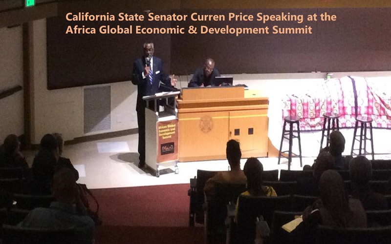 California State Senator Curren Price Speaking at the Africa Global Economic & Development Summit