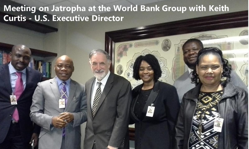 Meeting on Jatropha at the World Bank Group with Keith Curtis - U.S. Executive Director